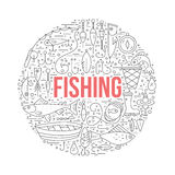 Fishing Design Template Royalty Free Stock Image