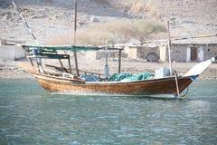Fishing dhow. By Musandam Peninsula Oman Stock Photos
