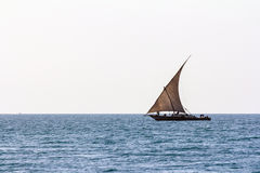 Fishing dhow sailing Stock Photos
