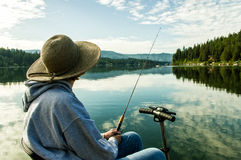 Fishing with a Disability royalty free stock photo