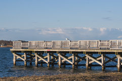 Fishing Dock 5177. A small fishing dock at a local bay on a sunny day Royalty Free Stock Photography