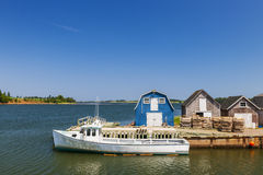 Fishing dock in  Prince Edward Island Canada Stock Photo