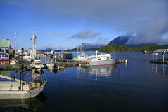 Fishing dock in Tofino on the Vancouver Island Stock Photography