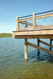 Fishing Dock Vertical Royalty Free Stock Images
