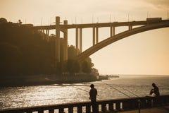 Fishing at Douro Royalty Free Stock Photo