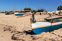 Fishing dugout in Madagascar Royalty Free Stock Photography