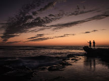 Fishing at Dusk stock photos
