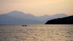 Fishing at Dusk Royalty Free Stock Image