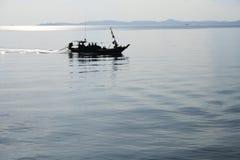 Fishing at Dusk Royalty Free Stock Photo