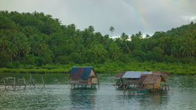 Fishing dwelling. Fisherman`s dwelling in the Philippines Stock Images