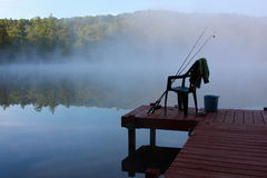 Fishing in the early morning Royalty Free Stock Image