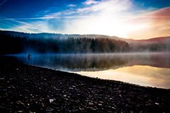 Fishing early in the morning Stock Photo