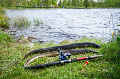 Fishing eel in Sweden Royalty Free Stock Photography