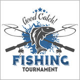 Fishing emblem, badge and design elements Royalty Free Stock Photos