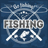 Fishing emblem, badge and design elements Stock Photos