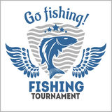 Fishing emblem, badge and design elements Stock Photography