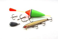 Fishing equipment. To catch pike Stock Photos
