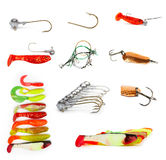 Fishing equipment. On white Stock Image