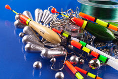 Fishing equipment Stock Images