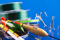 Fishing equipment Stock Photos