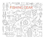 Fishing equipment Royalty Free Stock Images