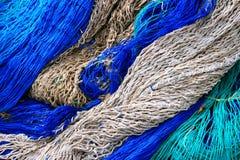 Fishing equipment, fish net background Royalty Free Stock Image