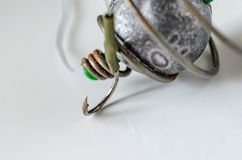 Fishing equipment. Sport and recreation concept royalty free stock images