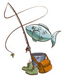 Fishing equipments Royalty Free Stock Image