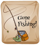 Fishing equipments Royalty Free Stock Photos