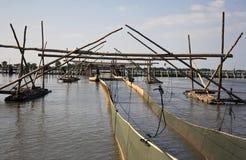 Fishing facilities Tonle Sap Royalty Free Stock Images