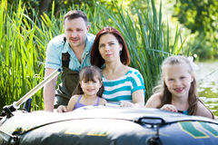Fishing family Stock Images
