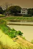 Fishing and farming village Royalty Free Stock Image