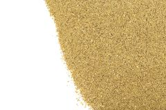 Fishing feeder mixed groundbait. Dry feed for bream and roach fishing stock image