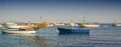 Fishing fellucas on their moorings Royalty Free Stock Images