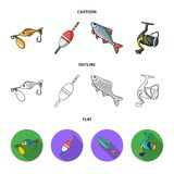 Fishing, fish, catch, hook .Fishing set collection icons in cartoon,outline,flat style vector symbol stock illustration.  Stock Photo