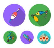 Fishing, fish, catch, hook .Fishing set collection icons in flat style vector symbol stock illustration web. Fishing, fish, catch, hook .Fishing set collection Stock Photo