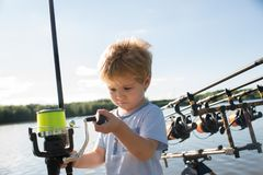 Fishing fish concept royalty free stock images