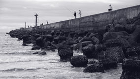 Fishing in the Fish Harbor, ChuWei Stock Photo