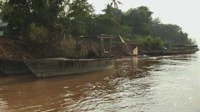 Fishing, fishermen, mekong, cambodia,southeast asia Royalty Free Stock Image