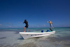 Fishing the flats of Belize Stock Photos