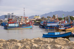 The fishing fleet in Hue, Vietnam Royalty Free Stock Images