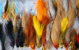 Fishing flies Royalty Free Stock Images