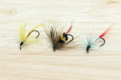 Fishing flies Stock Image