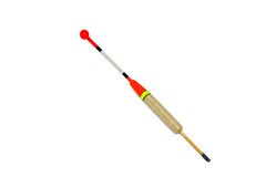 Fishing float. With brightly red signalling device Royalty Free Stock Photos