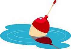 Fishing float floating in the water Royalty Free Stock Photography