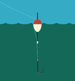 Fishing Float, Lilne, Hook Stock Images