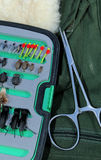 Fishing Fly Choices stock images