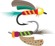 Fishing Fly vector Royalty Free Stock Images
