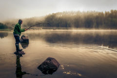 Fishing fog Royalty Free Stock Photography