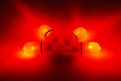 Fishing four red LED power indicators Royalty Free Stock Photo